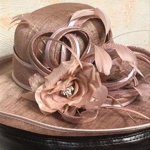 Beautiful blush hat